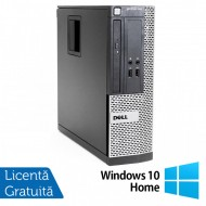 Calculator Dell OptiPlex 390 SFF, Intel Core i3-2100 3.10GHz, 4GB DDR3, 250GB SATA, DVD-ROM + Windows 10 Home