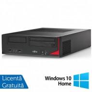 Calculator FUJITSU SIEMENS E410 Desktop, Intel Core i3-3220 3.30GHz, 4GB DDR3, 250GB SATA, AMD Radeon R5 240 1GB DDR3, DVD-RW + Windows 10 Home