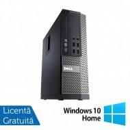 Calculator DELL OptiPlex 7010 SFF, Intel Core i3-3245 3.40GHz, 4GB DDR3, 500GB SATA, DVD-RW + Windows 10 Home
