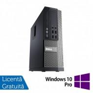 Calculator DELL OptiPlex 7010 SFF, Intel Core i3-3245 3.40GHz, 4GB DDR3, 500GB SATA, DVD-RW + Windows 10 Pro