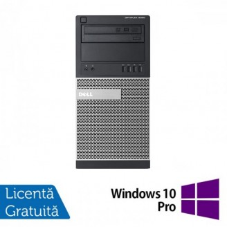 Calculator DELL Optiplex 9020 Tower, Intel Core i3-4130 3.40GHz, 8GB DDR3, 120GB SSD, DVD-ROM + Windows 10 Pro