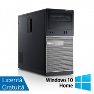 Calculator DELL Optiplex 390 Tower, Intel i3-2100 3.10GHz, 4GB DDR3, 250GB SATA, DVD-ROM + Windows 10 Home