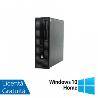 Calculator HP 400 G1 SFF, Intel Core i3-4130 3.40GHz, 4GB DDR3, 500GB SATA, DVD-RW + Windows 10 Home