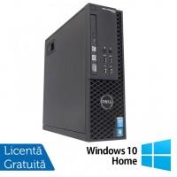 Workstation Dell Precision T1700 SFF, Intel Quad Core i7-4770 3.40GHz - 3.90GHz, 32GB DDR3, 240GB SSD, nVidia Quadro 600/1GB, DVD-RW + Windows 10 Home